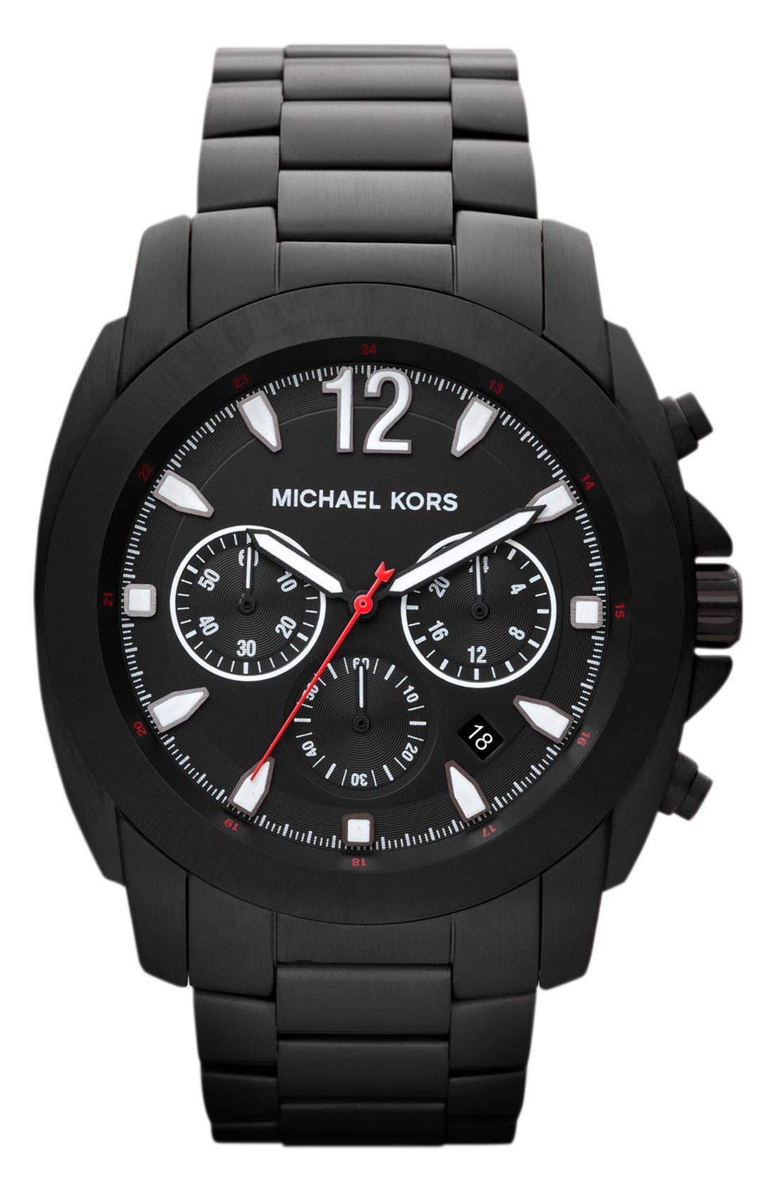 Alternate Image 1 Selected - Michael Kors 'Cameron' Chronograph Bracelet Watch, 47mm