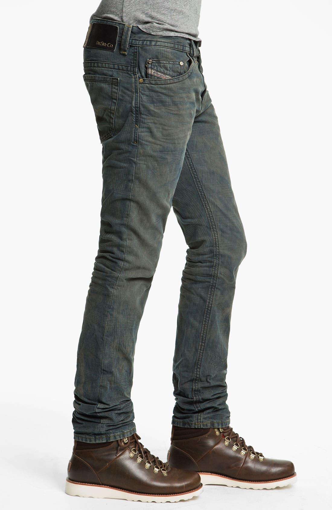 Alternate Image 3  - DIESEL® 'Thavar' Slim Straight Leg Jeans (0808Z)