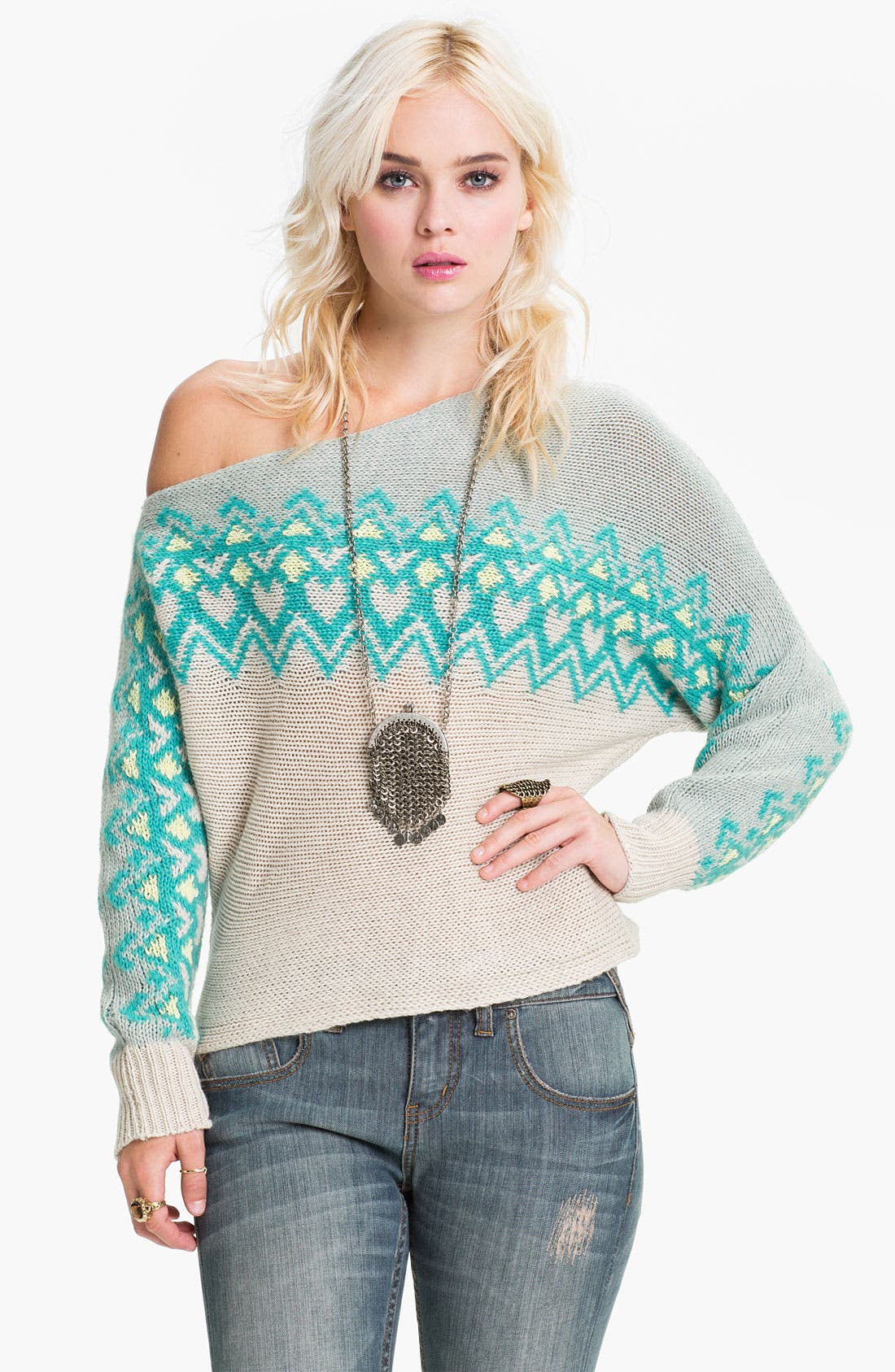 Main Image - Free People Off Shoulder Ski Sweater