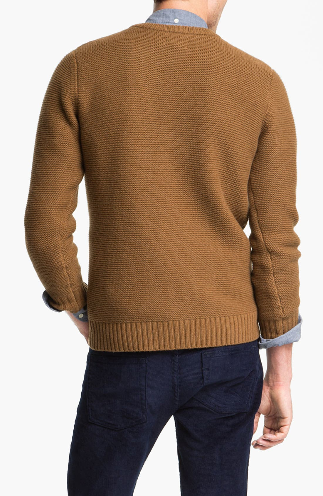 Alternate Image 2  - Gant Rugger Crochet Knit Lambswool Sweater