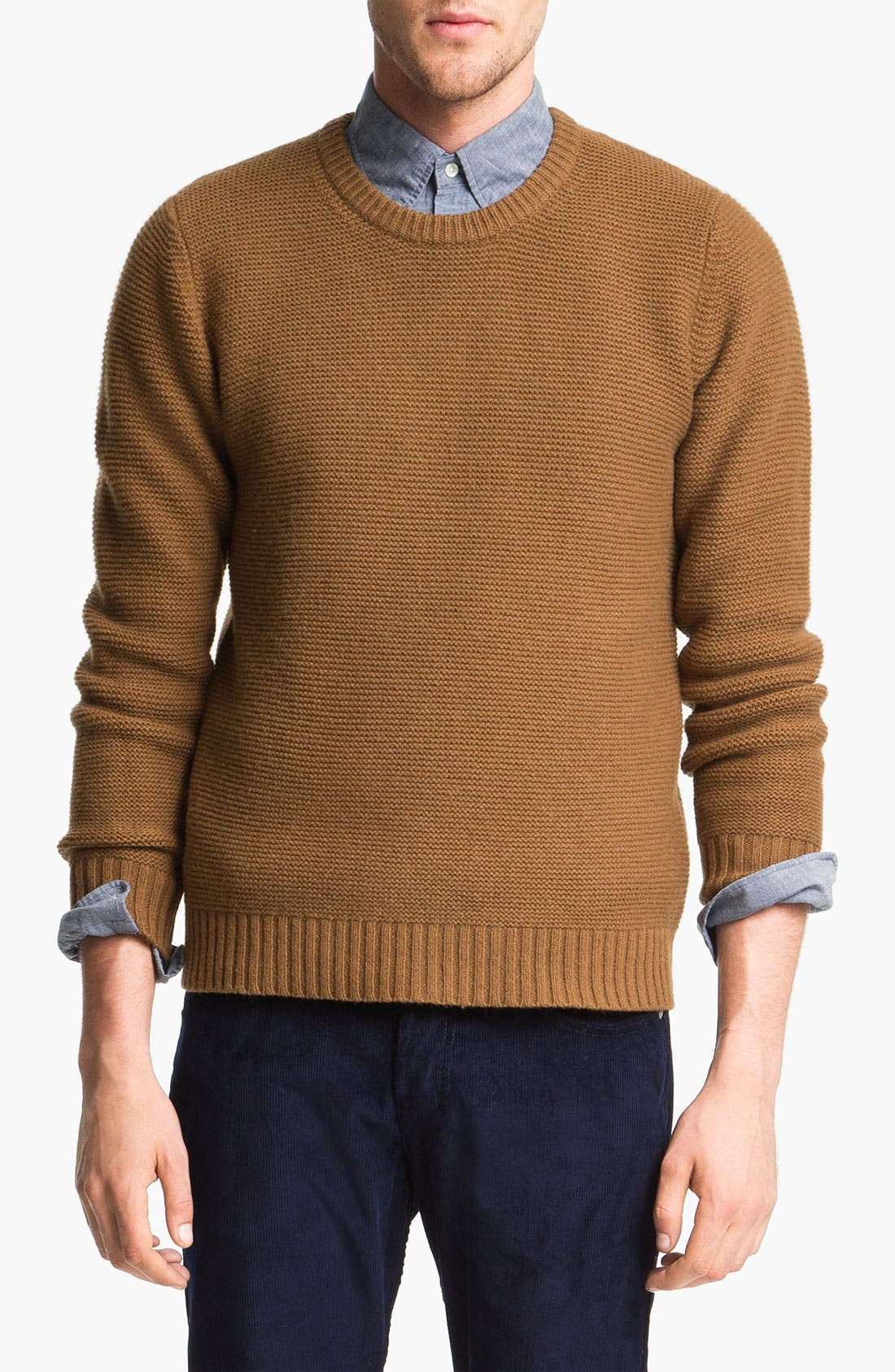 Alternate Image 1 Selected - Gant Rugger Crochet Knit Lambswool Sweater