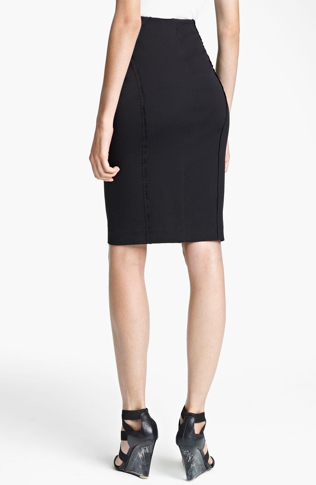 Alternate Image 2  - Donna Karan Collection Seamed Pencil Skirt