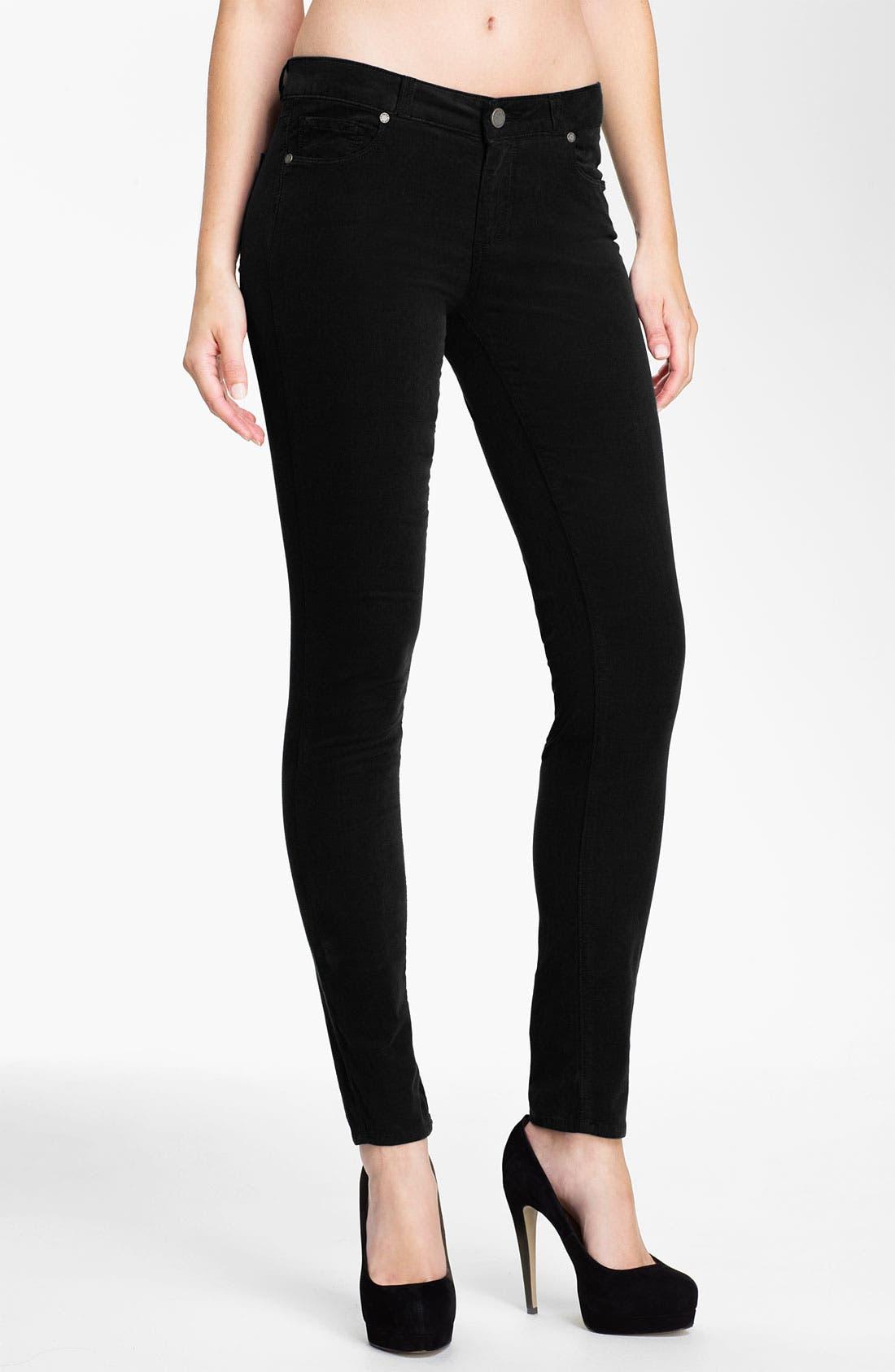 Main Image - Paige Denim 'Verdugo' Stretch Denim Skinny Jeans (Black)