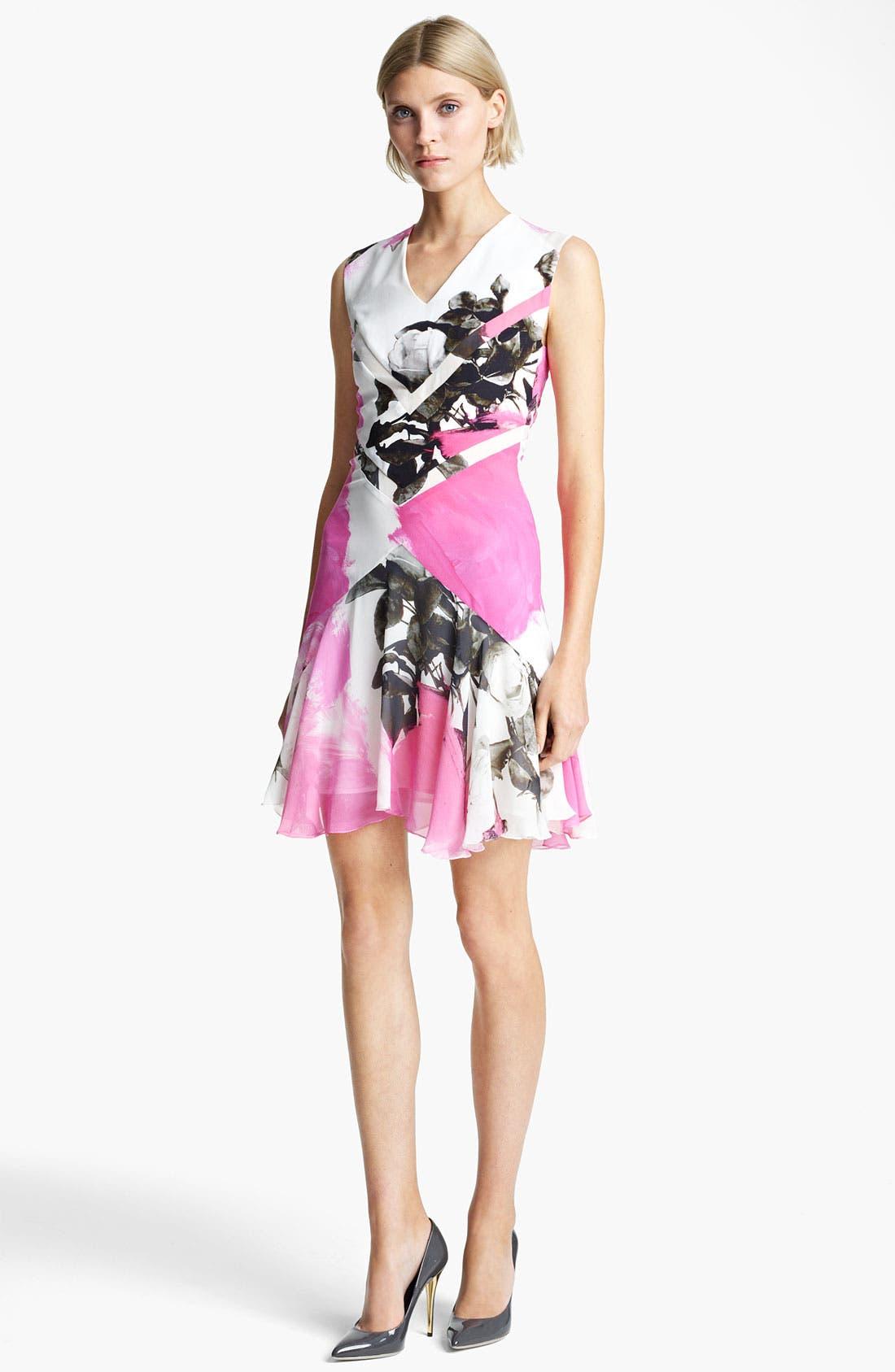 Main Image - Christopher Kane Print Flounce Hem Dress