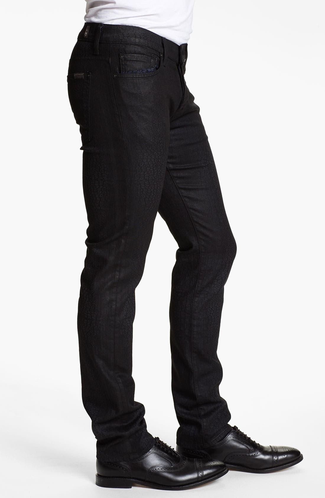 Alternate Image 3  - 7 For All Mankind® 'Rhigby' Slim Straight Leg Jeans (Dark Indigo)