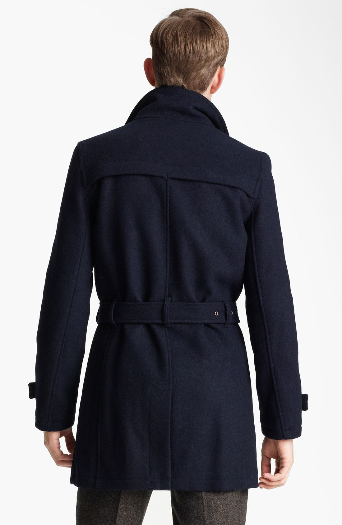 Alternate Image 2  - Topman Funnel Neck Trench Coat