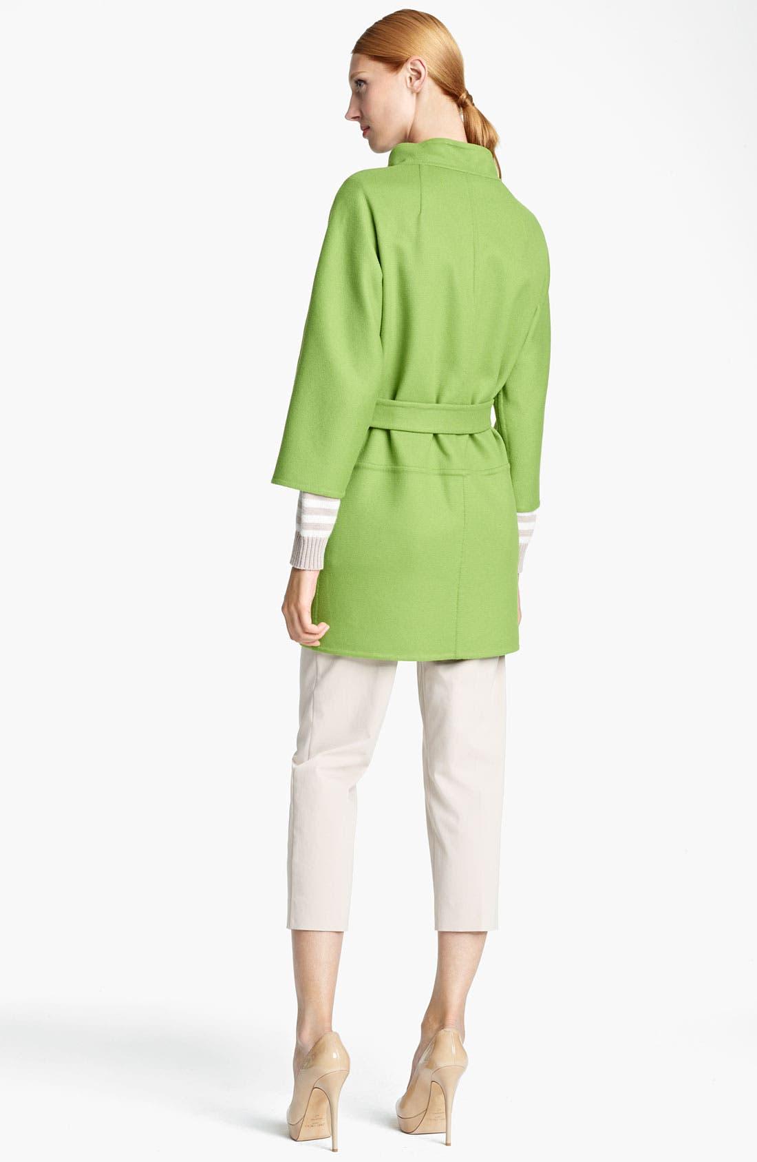 Alternate Image 2  - Max Mara 'Lipari' Belted Wool Blend Coat