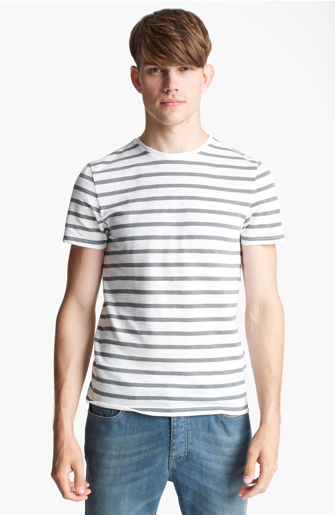 Alternate Image 1 Selected - Topman Slub Stripe T-Shirt
