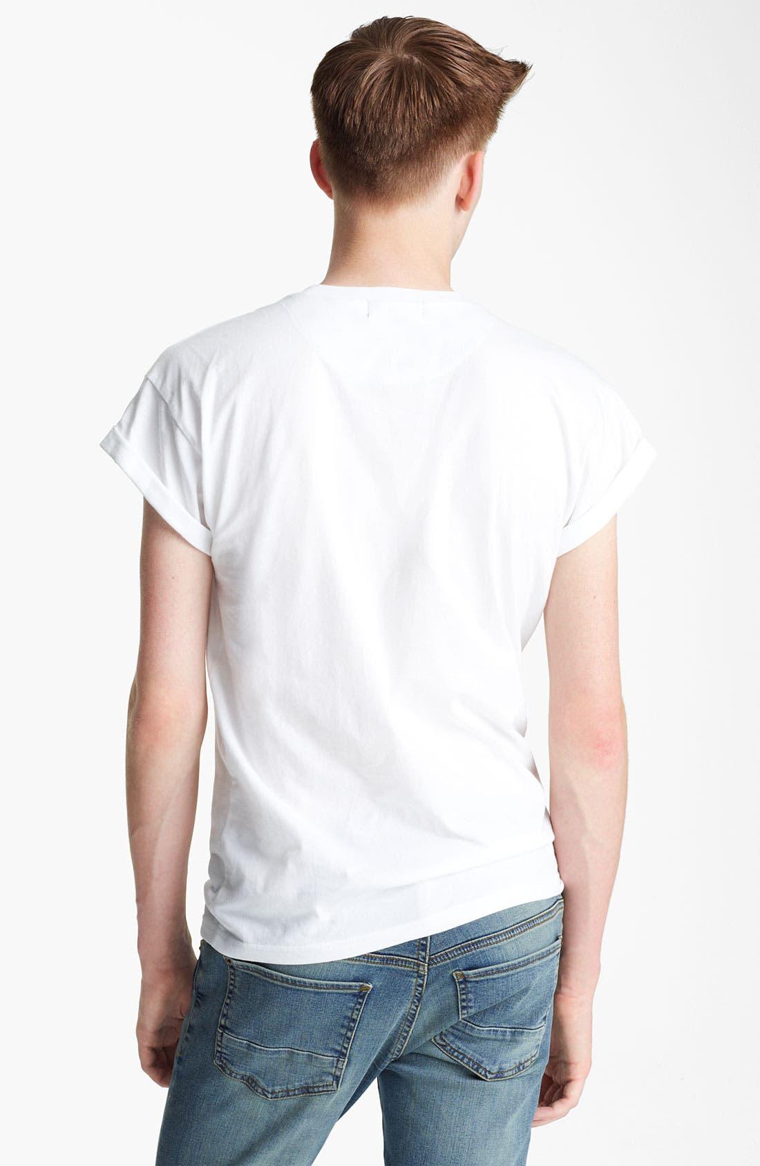 Alternate Image 2  - Topman Skull Print Pocket T-Shirt