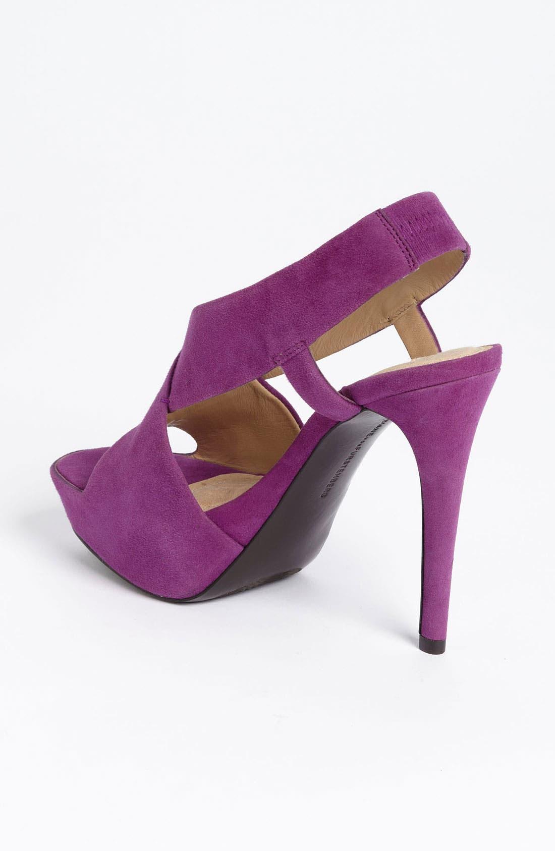 'Zia' Platform Sandal,                             Alternate thumbnail 4, color,                             Purple