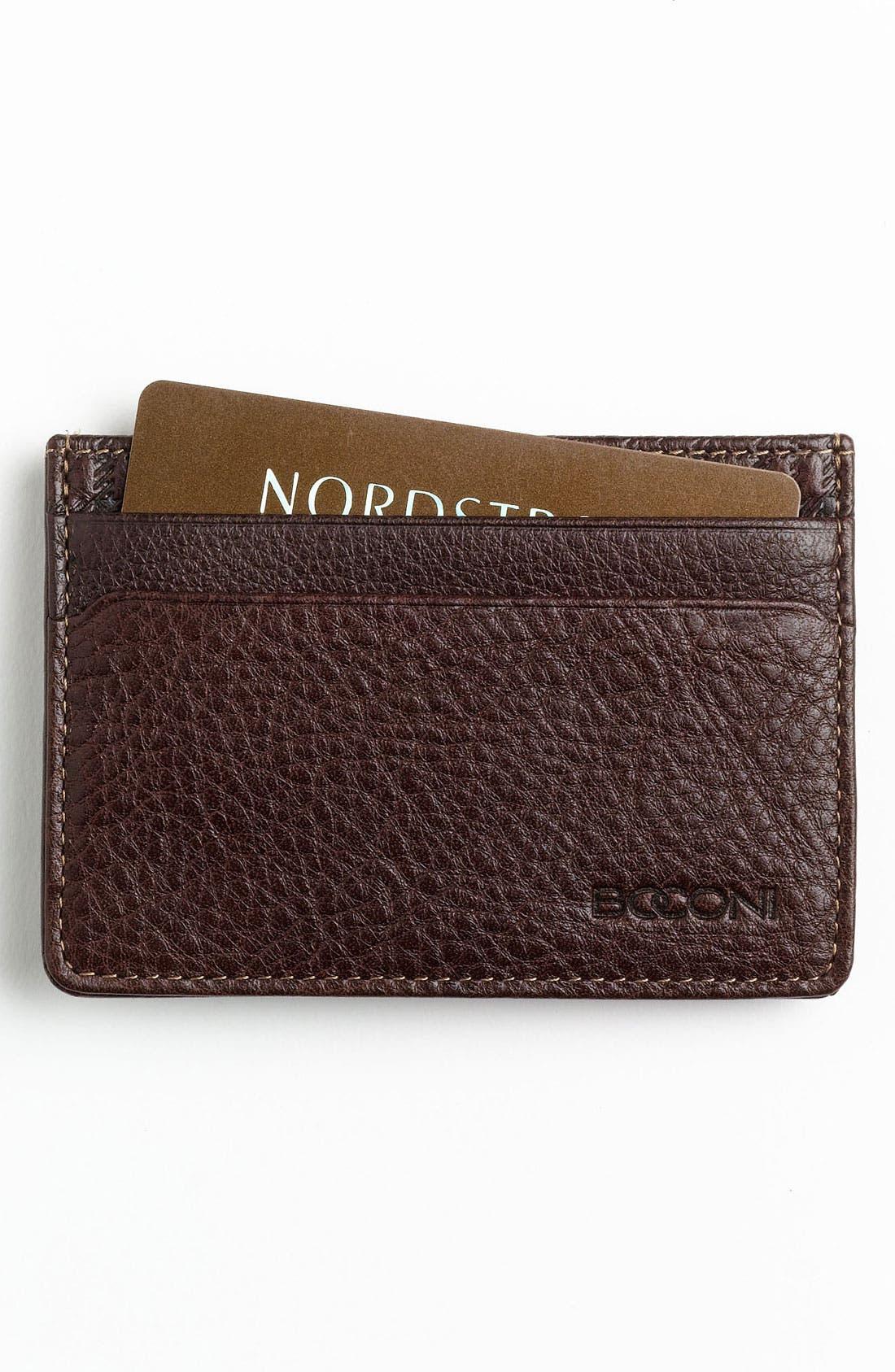 Main Image - Boconi Money Clip Card Case