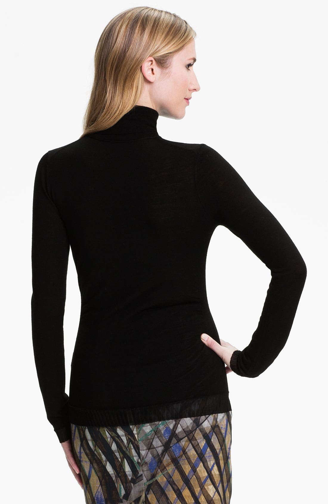 Alternate Image 2  - BOSS HUGO BOSS Wool Jersey Turtleneck