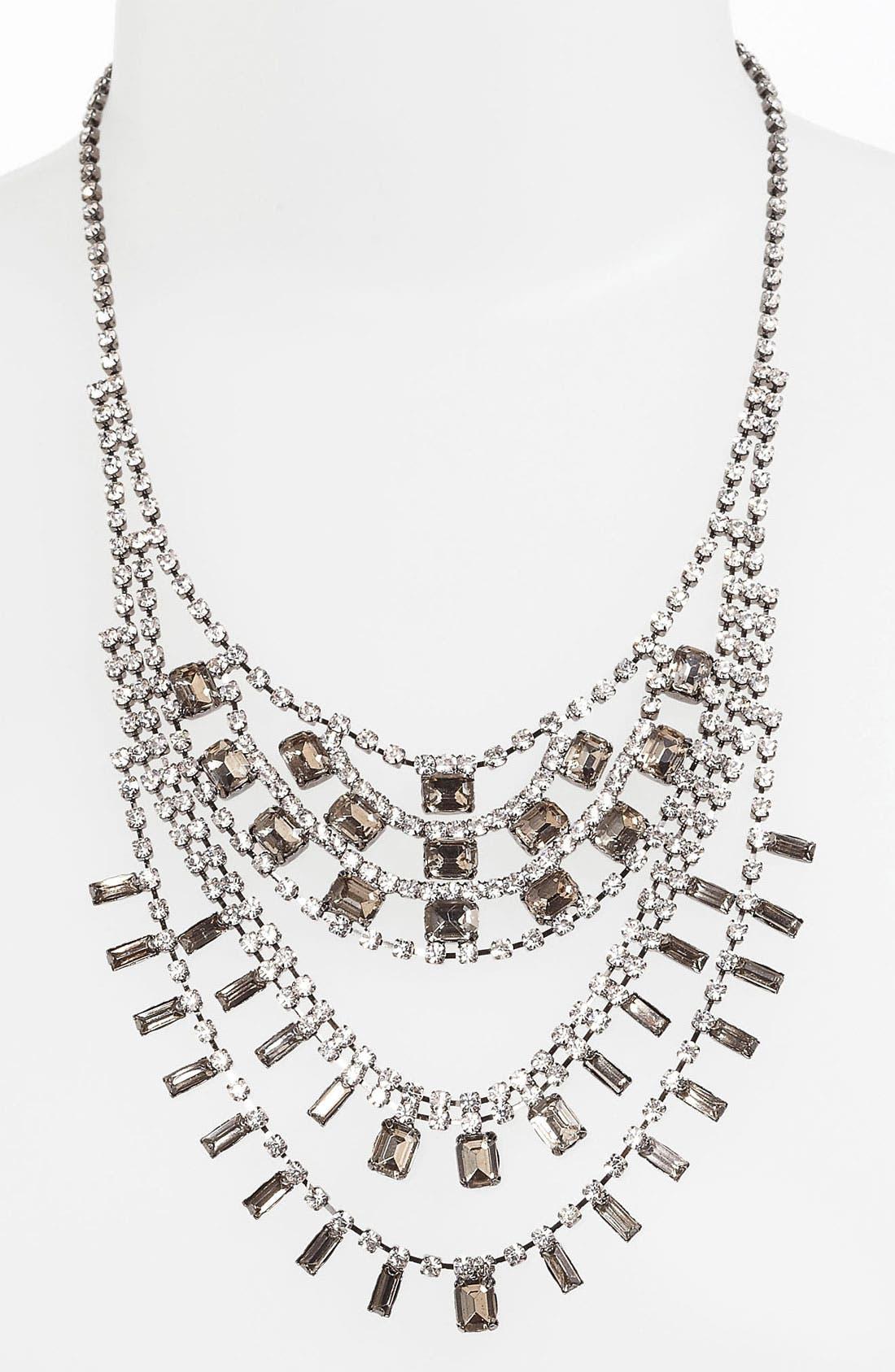 Main Image - BP. Vintage Rhinestone Bib Necklace