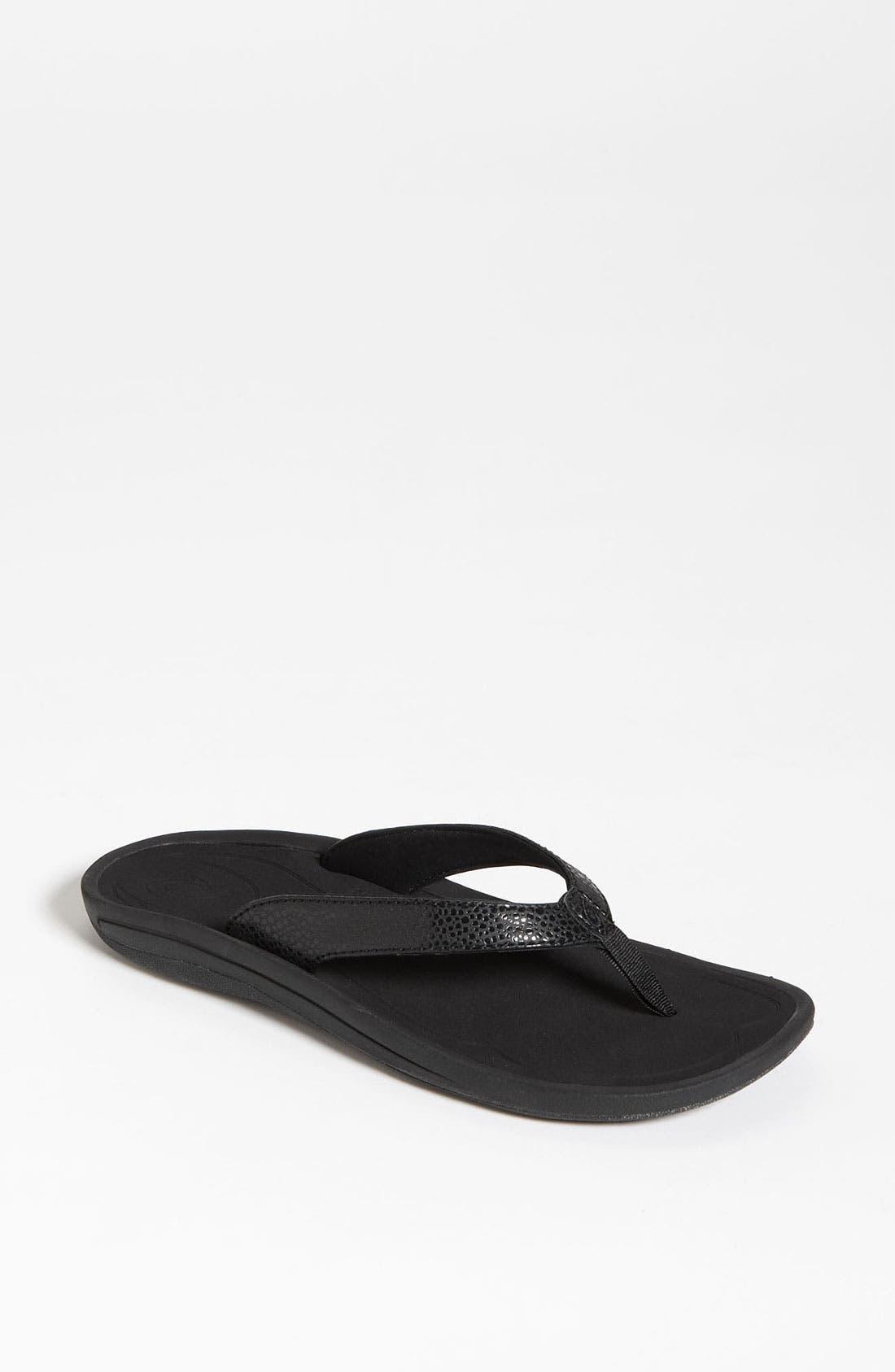 'Kulapa Kai' Thong Sandal,                         Main,                         color, Black