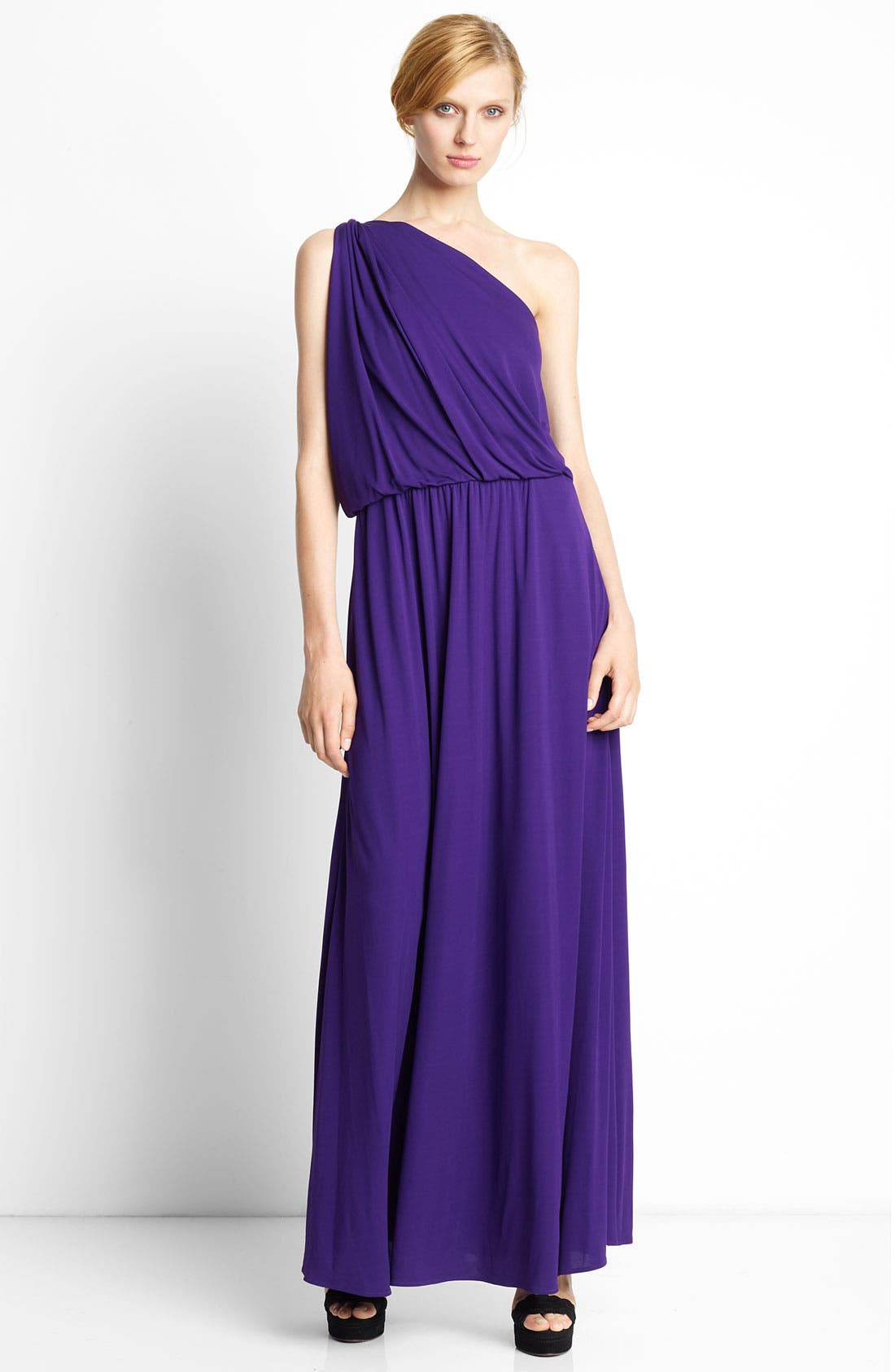 Alternate Image 1 Selected - Lanvin Twisted One Shoulder Jersey Gown