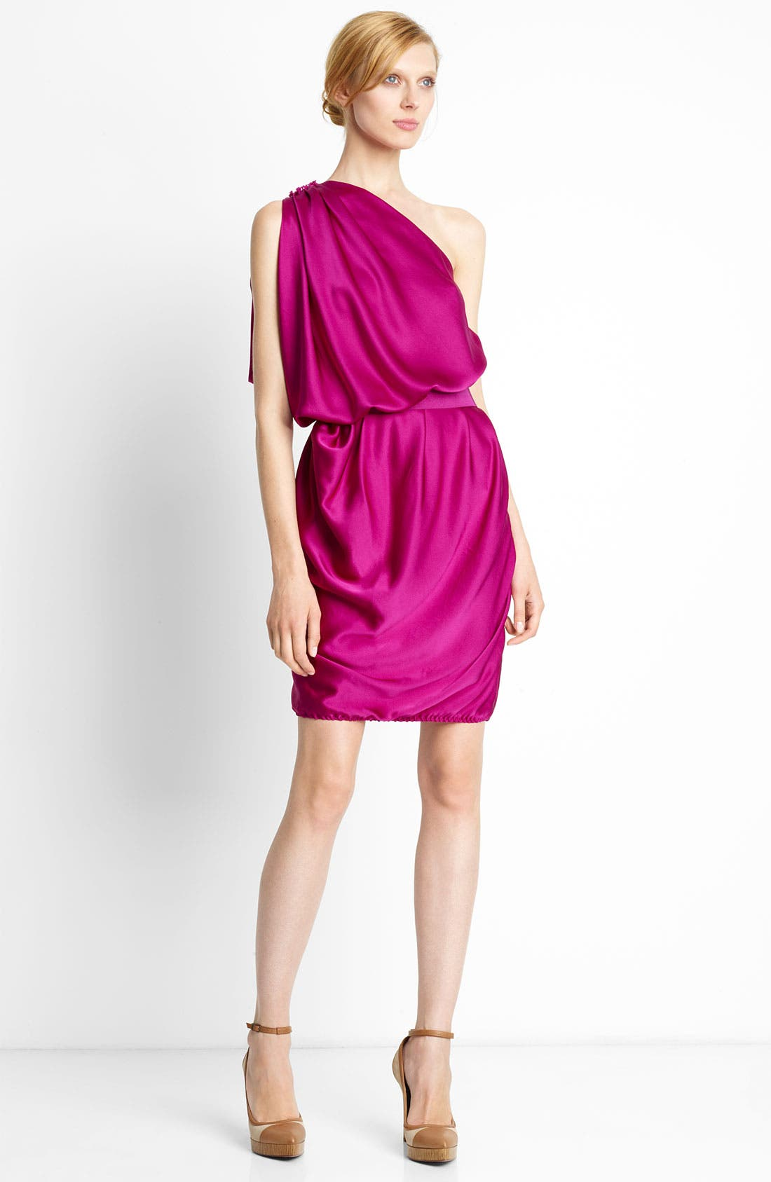 Main Image - Lanvin One Shoulder Satin Dress