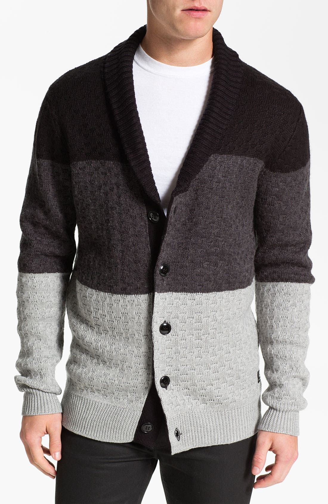 Main Image - 55DSL 'Kanfyl' Shawl Collar Cardigan