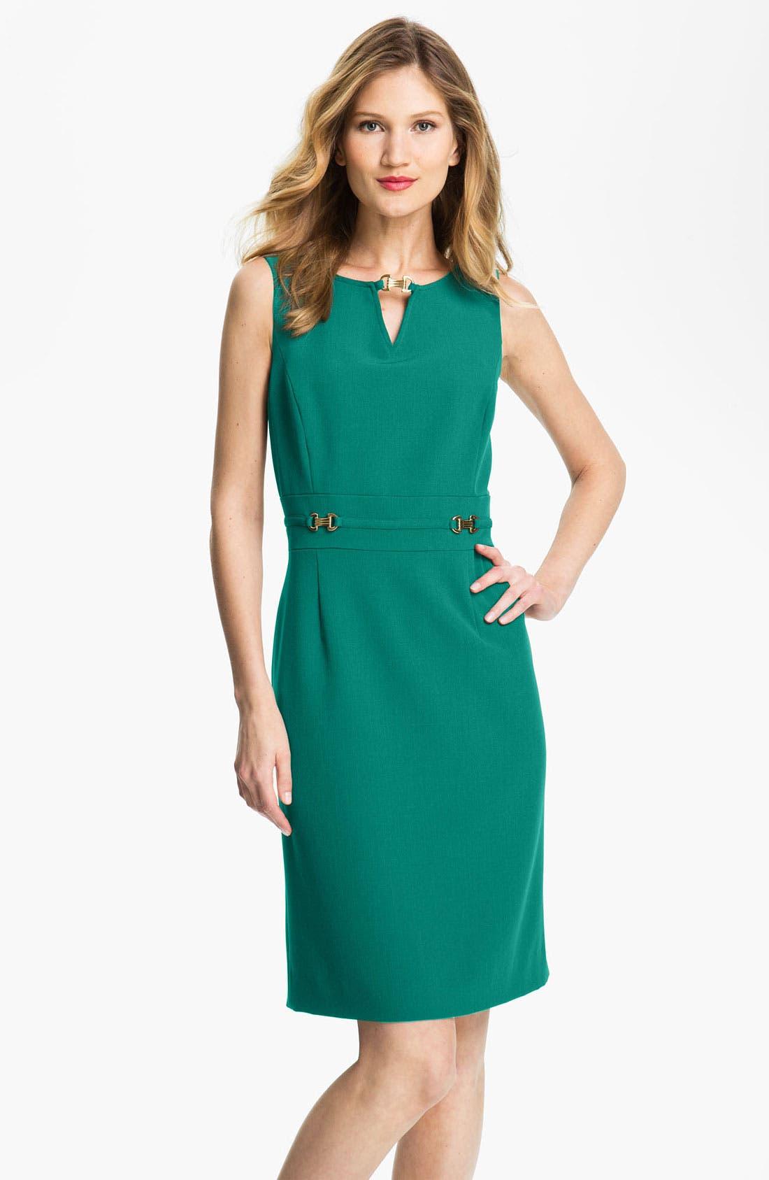 Main Image - Tahari Sleeveless Shift Dress