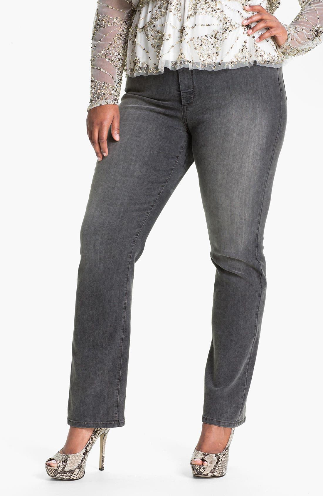 Alternate Image 1 Selected - NYDJ 'Marilyn' Straight Leg Stretch Jeans (Plus)