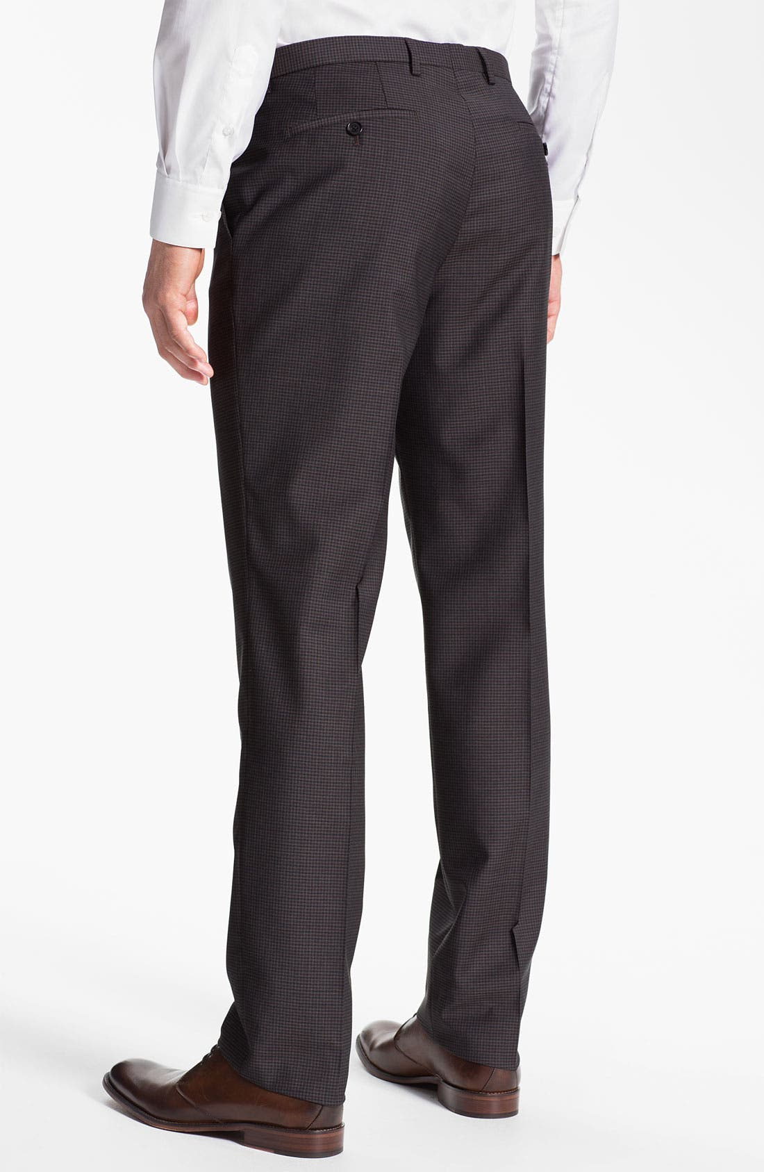 Alternate Image 2  - BOSS Black 'Sharp' Flat Front Trousers