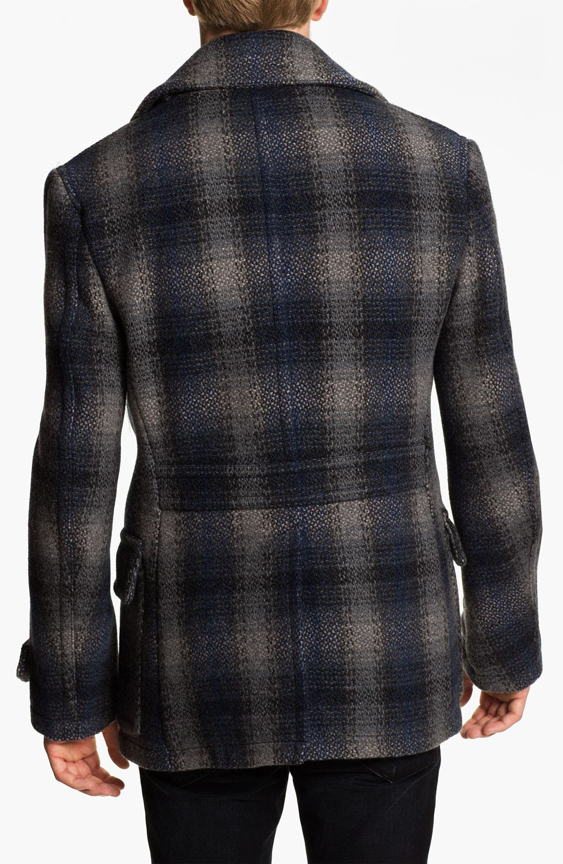 Alternate Image 2  - Burberry Brit Double Breasted Wool Blend Coat