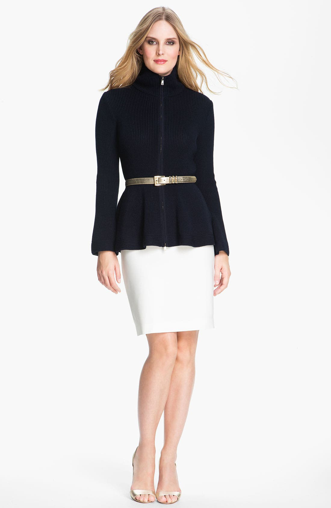Main Image - St. John Collection Crepe Marocain Pencil Skirt