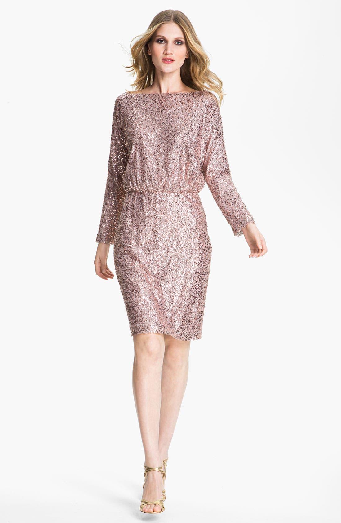 Main Image - St. John Collection Bateau Neck Sequin Dress
