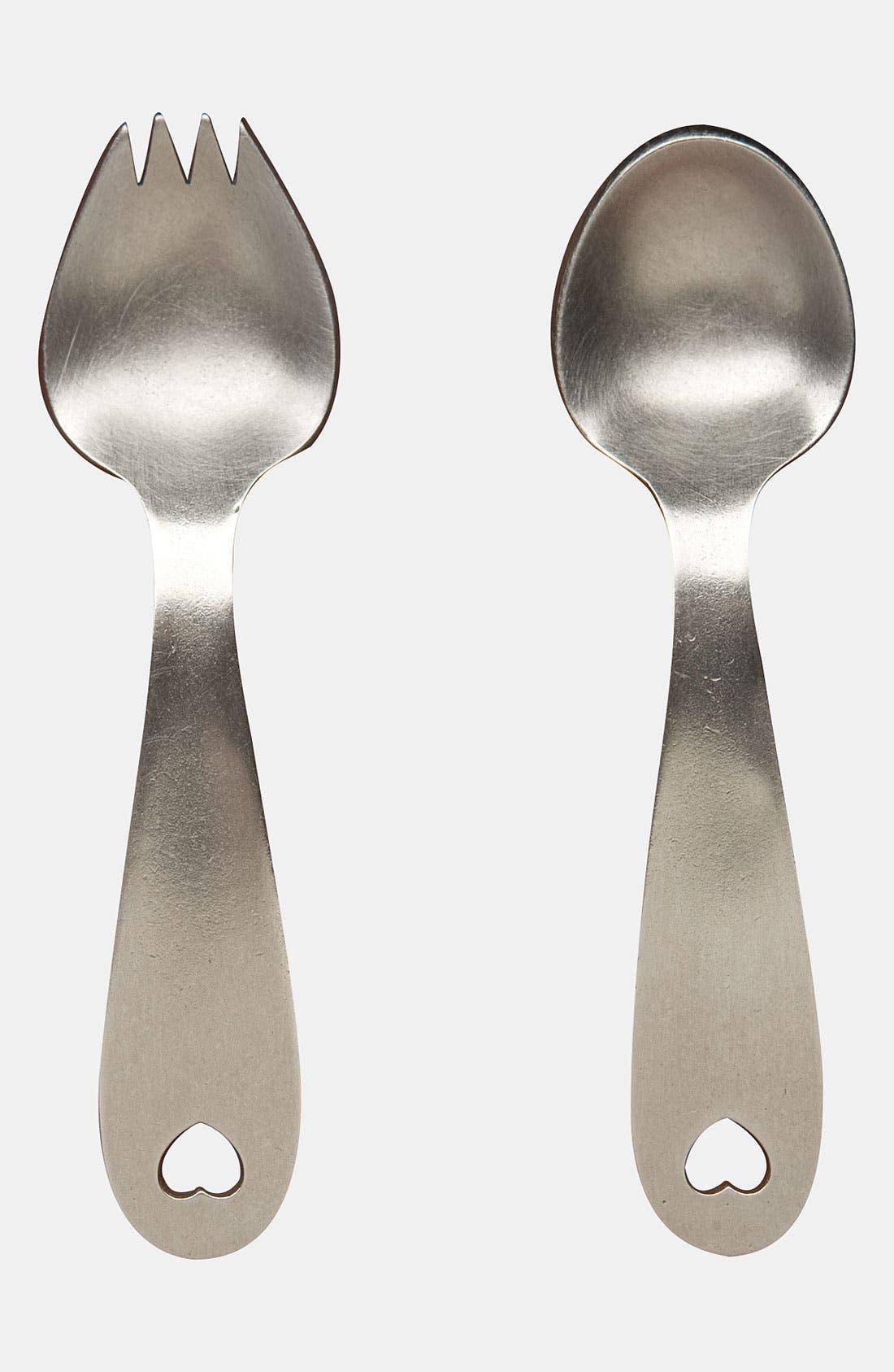 Alternate Image 1 Selected - Beehive Kitchenware 'Heart' Keepsake Spoon & Fork