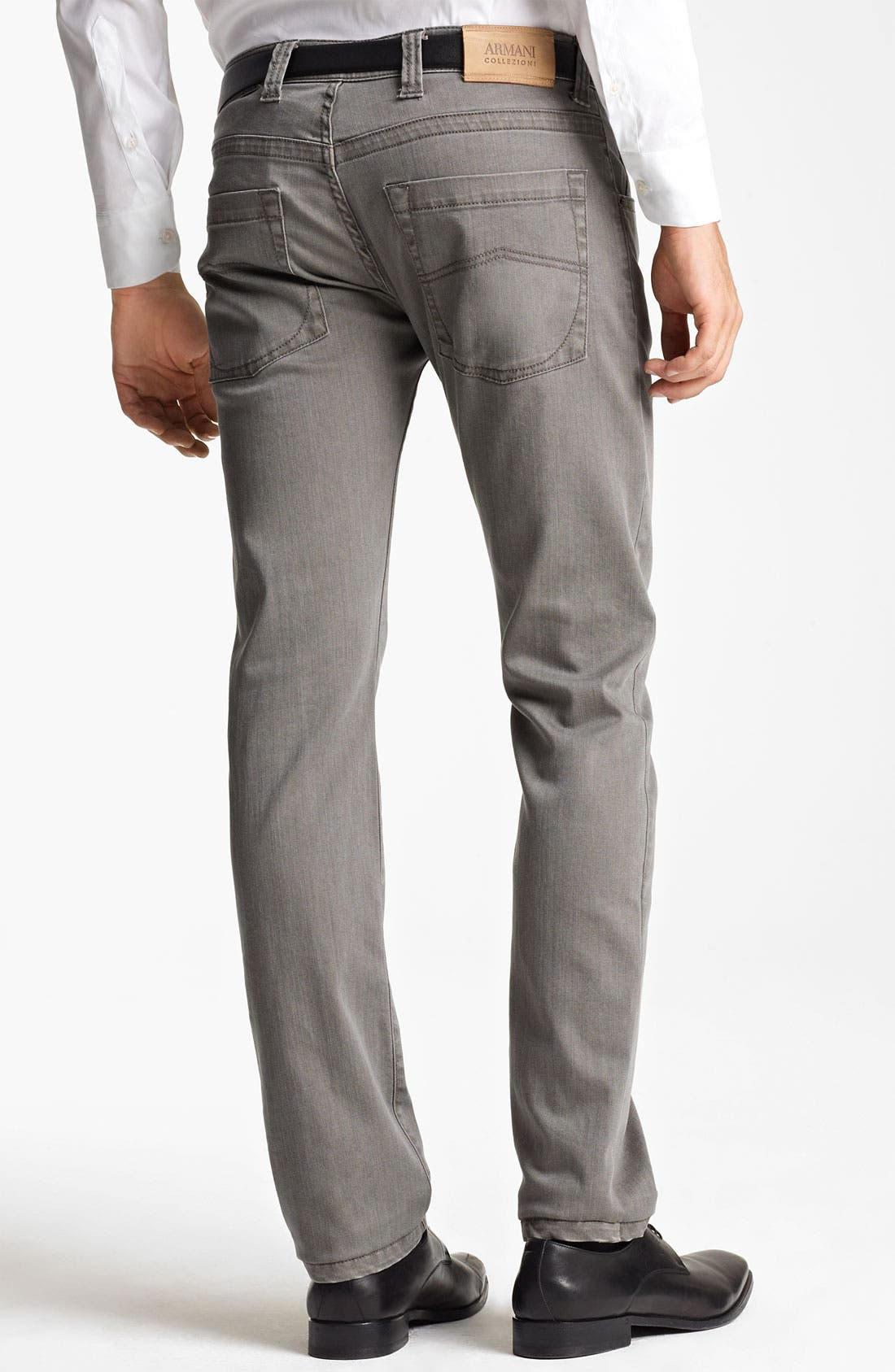 Alternate Image 2  - Armani Collezioni Slim Fit Jeans (Brown Multi)