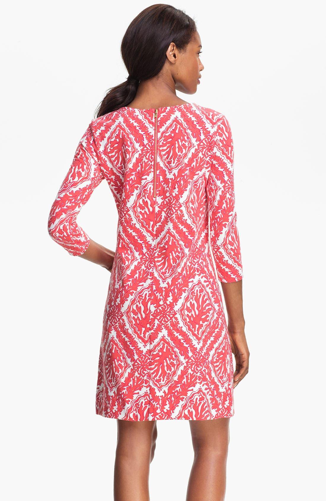 Alternate Image 2  - Lilly Pulitzer® 'Charlene' Coral Knit Shift Dress