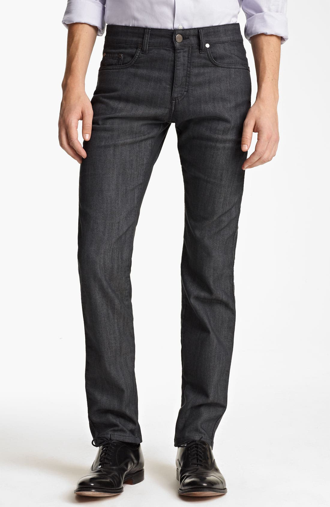 Alternate Image 1 Selected - Z Zegna Straight Leg Jeans (Blue)