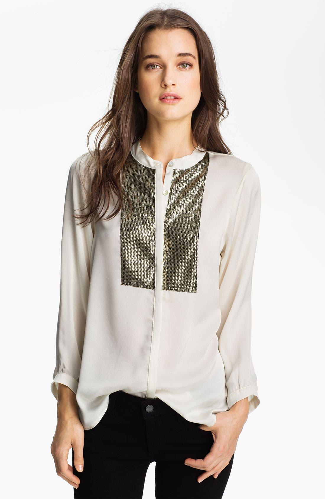 Alternate Image 1 Selected - Patterson J. Kincaid 'Mercury' Embellished Tux Shirt