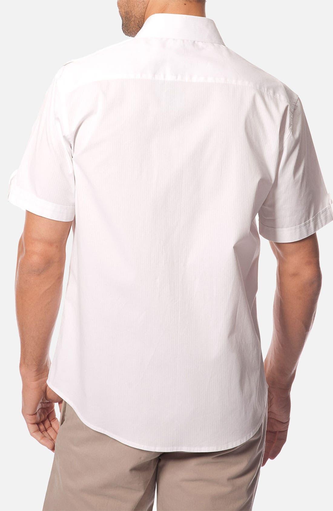 Alternate Image 2  - 7 Diamonds 'Body & Soul' Tonal Stripe Woven Short Sleeve Shirt