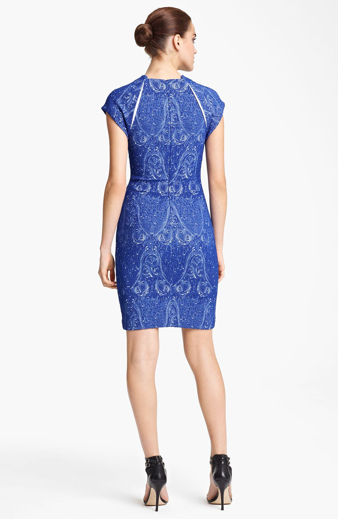 Alternate Image 2  - Yigal Azrouël Stretch Jacquard Dress