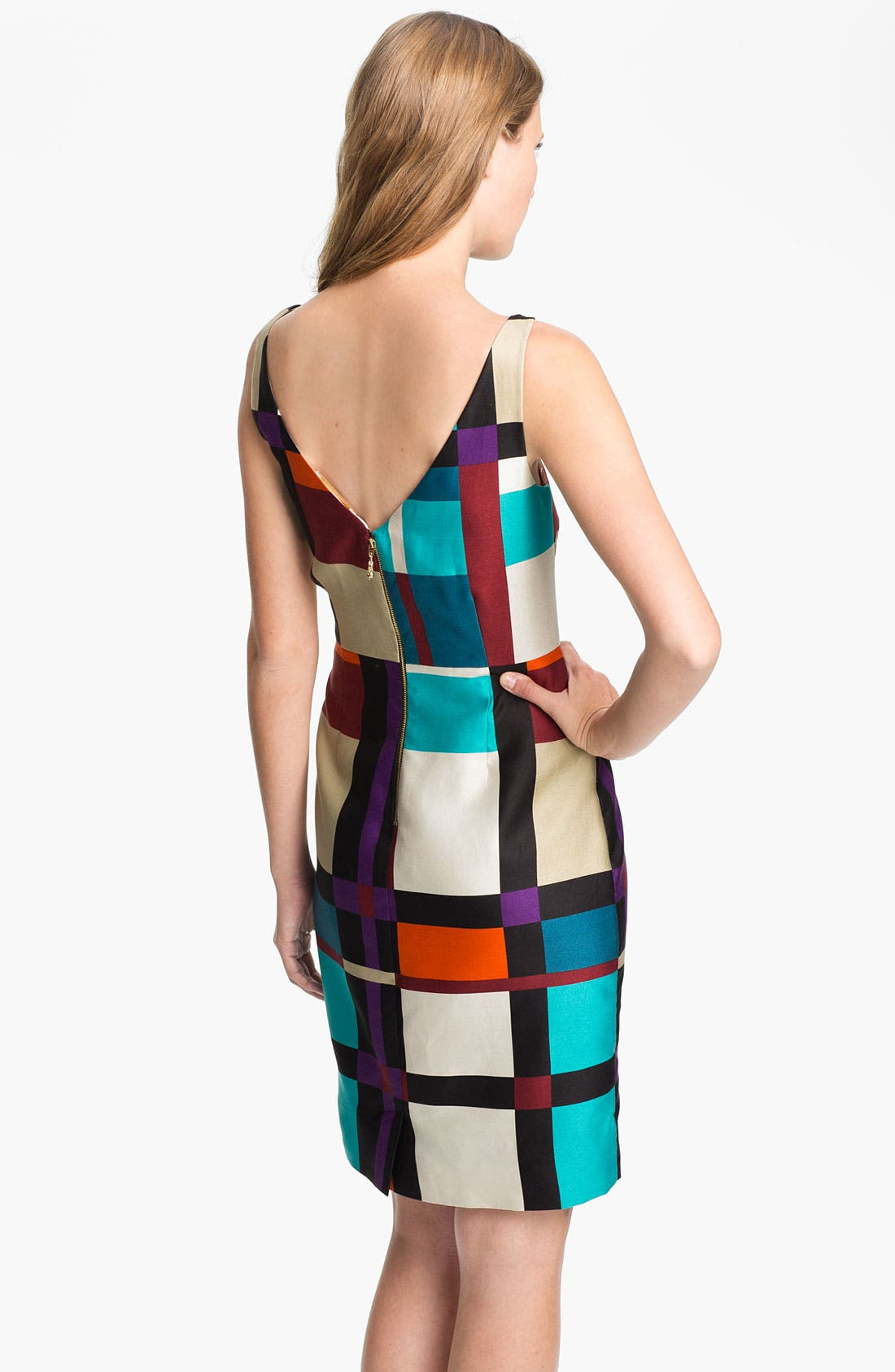 Alternate Image 2  - kate spade new york 'purdy' cotton & silk sheath dress (Nordstrom Exclusive)