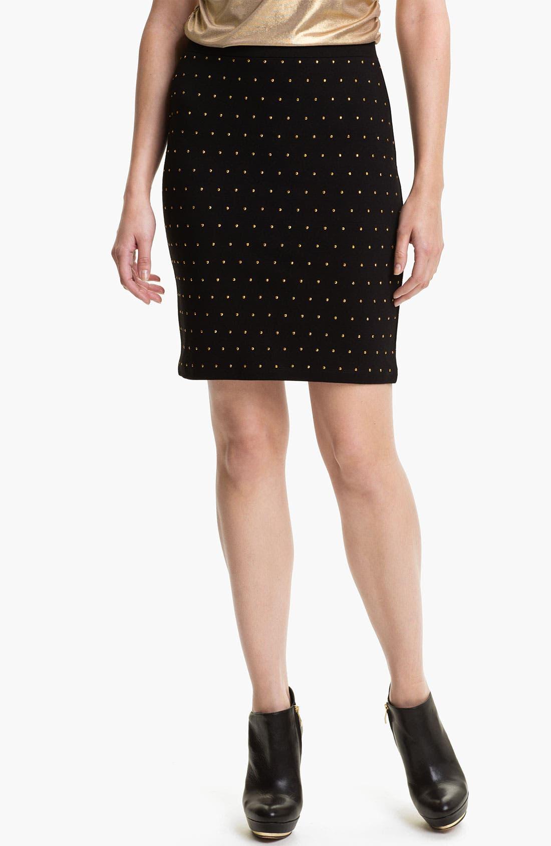 Main Image - Vince Camuto 'Disco' Studded Skirt