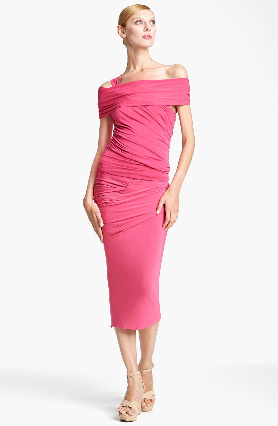 Alternate Image 1 Selected - Donna Karan Collection Cold Shoulder Jersey Top