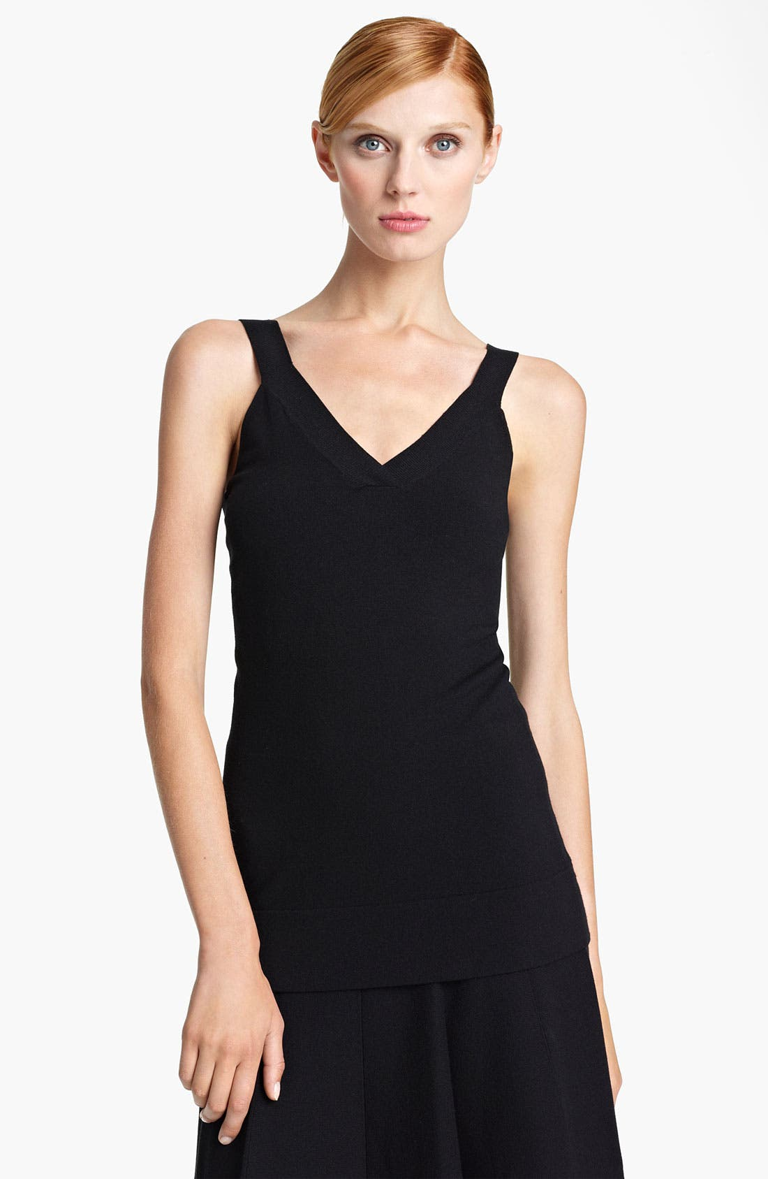 Alternate Image 1 Selected - Donna Karan Collection Long Stretch Knit Tank
