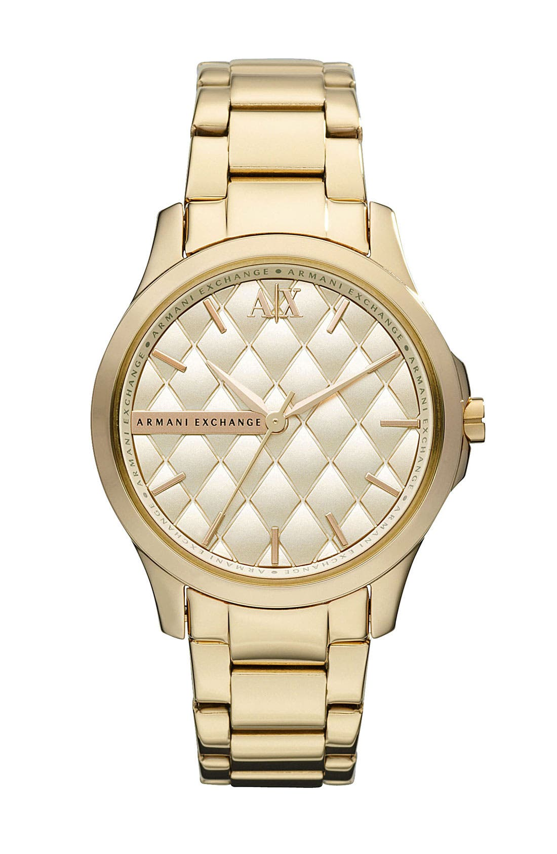 Alternate Image 1 Selected - AX Armani Exchange Quilted Dial Watch, 36mm (Online Only) (Special Purchase)