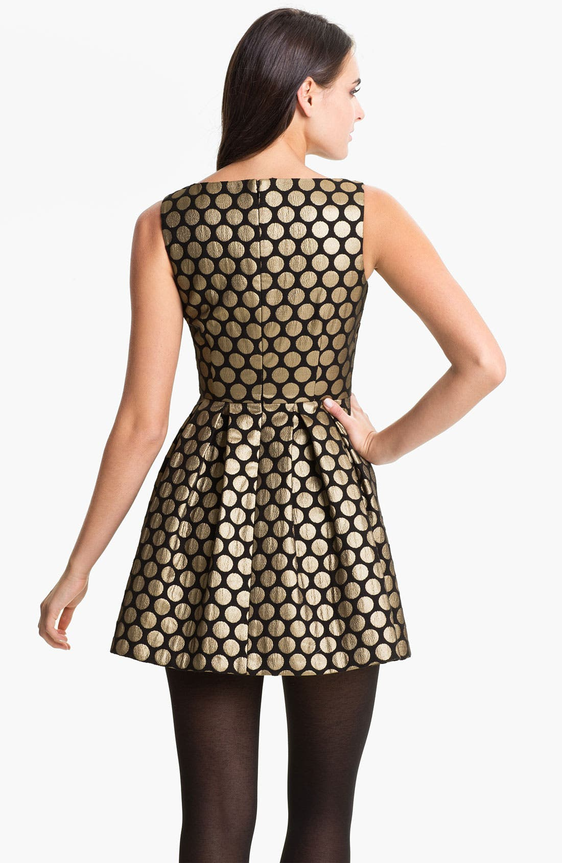 Alternate Image 2  - Vince Camuto Dot Jacquard Dress