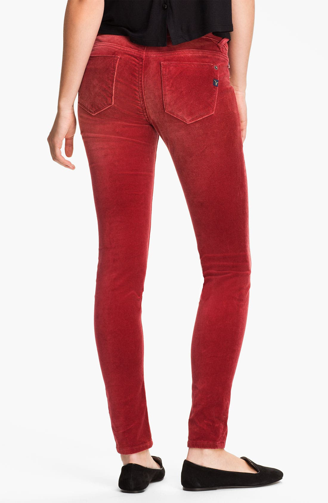 Alternate Image 2  - Vigoss Color Skinny Velvet Pants (Juniors)