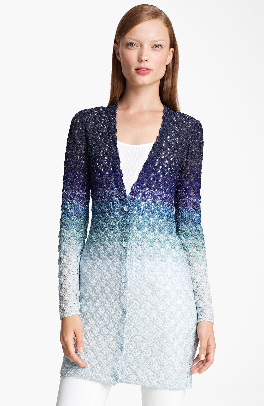 Alternate Image 1 Selected - Missoni Long Dégradé Cardigan