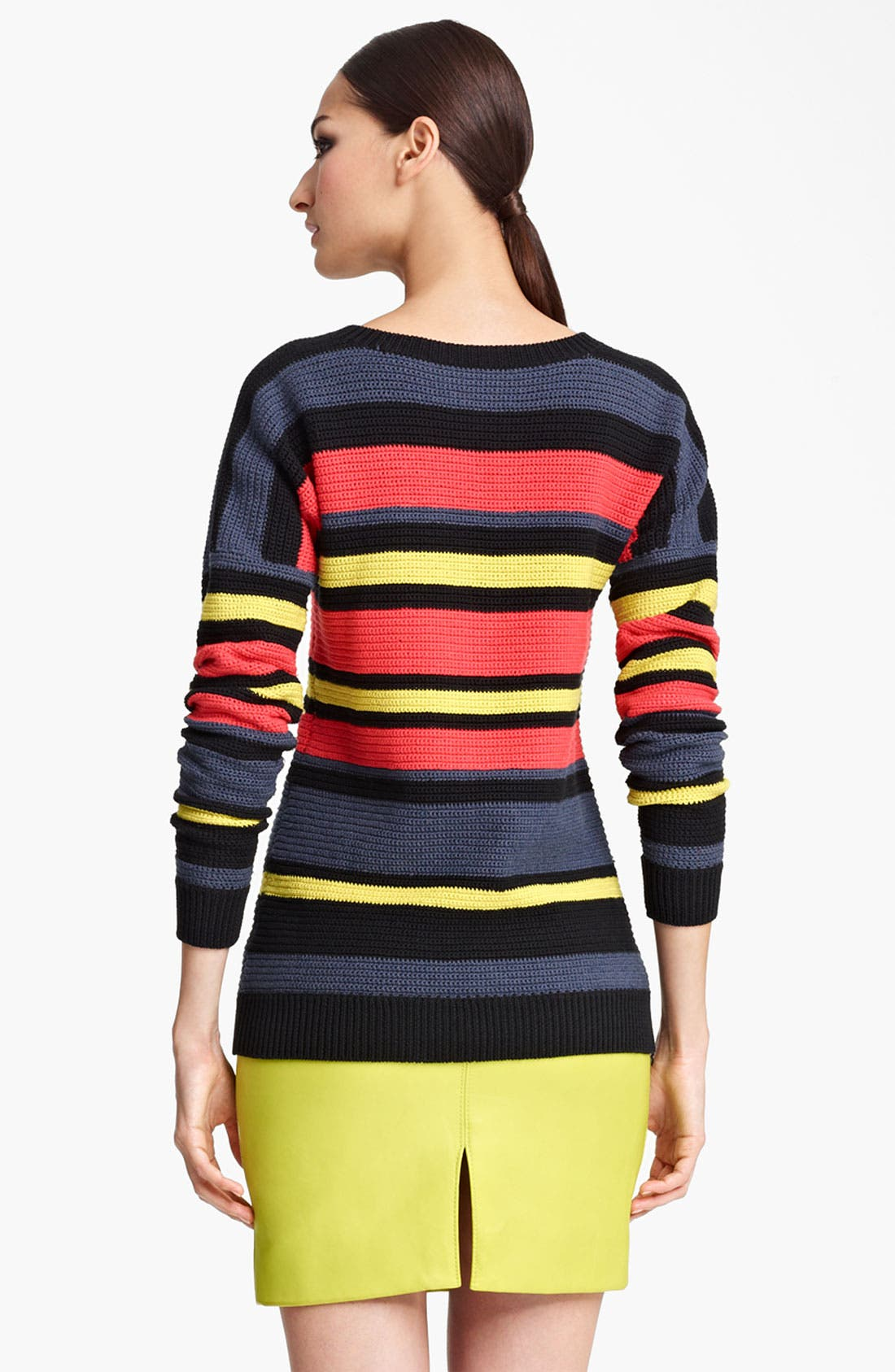 Alternate Image 2  - Jason Wu Stripe Crochet Sweater