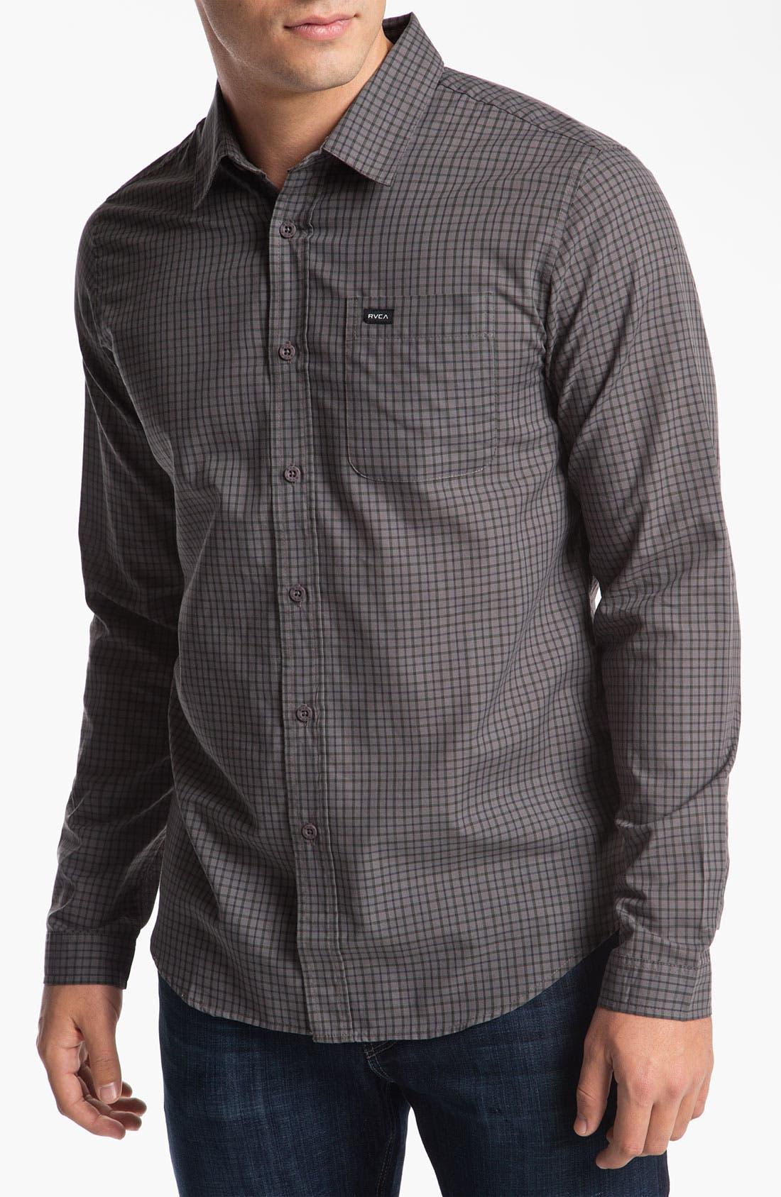 Alternate Image 1 Selected - RVCA 'Borealis' Check Woven Shirt
