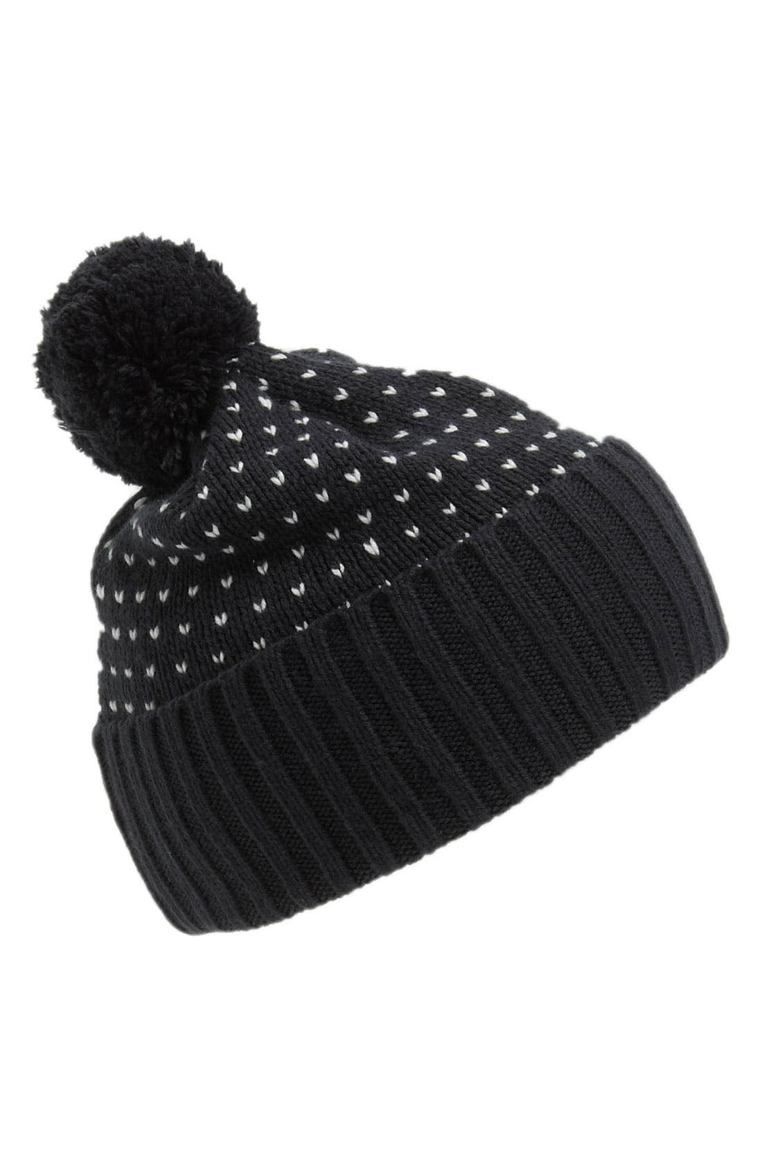 Alternate Image 1 Selected - Topman 'Sparrow' Pompom Beanie