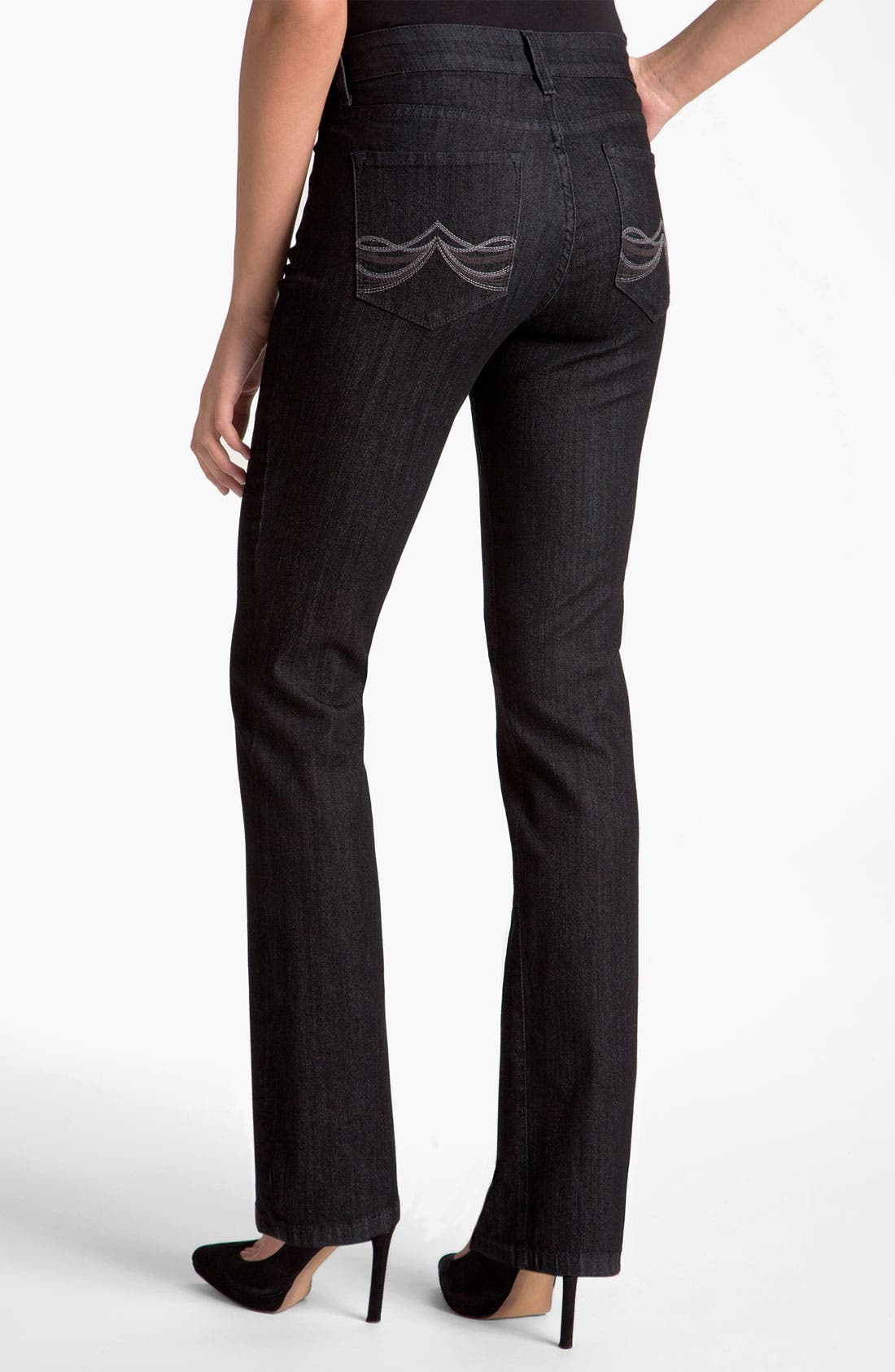 Alternate Image 4  - NYDJ 'Marilyn' Straight Leg Stretch Jeans (Plus)