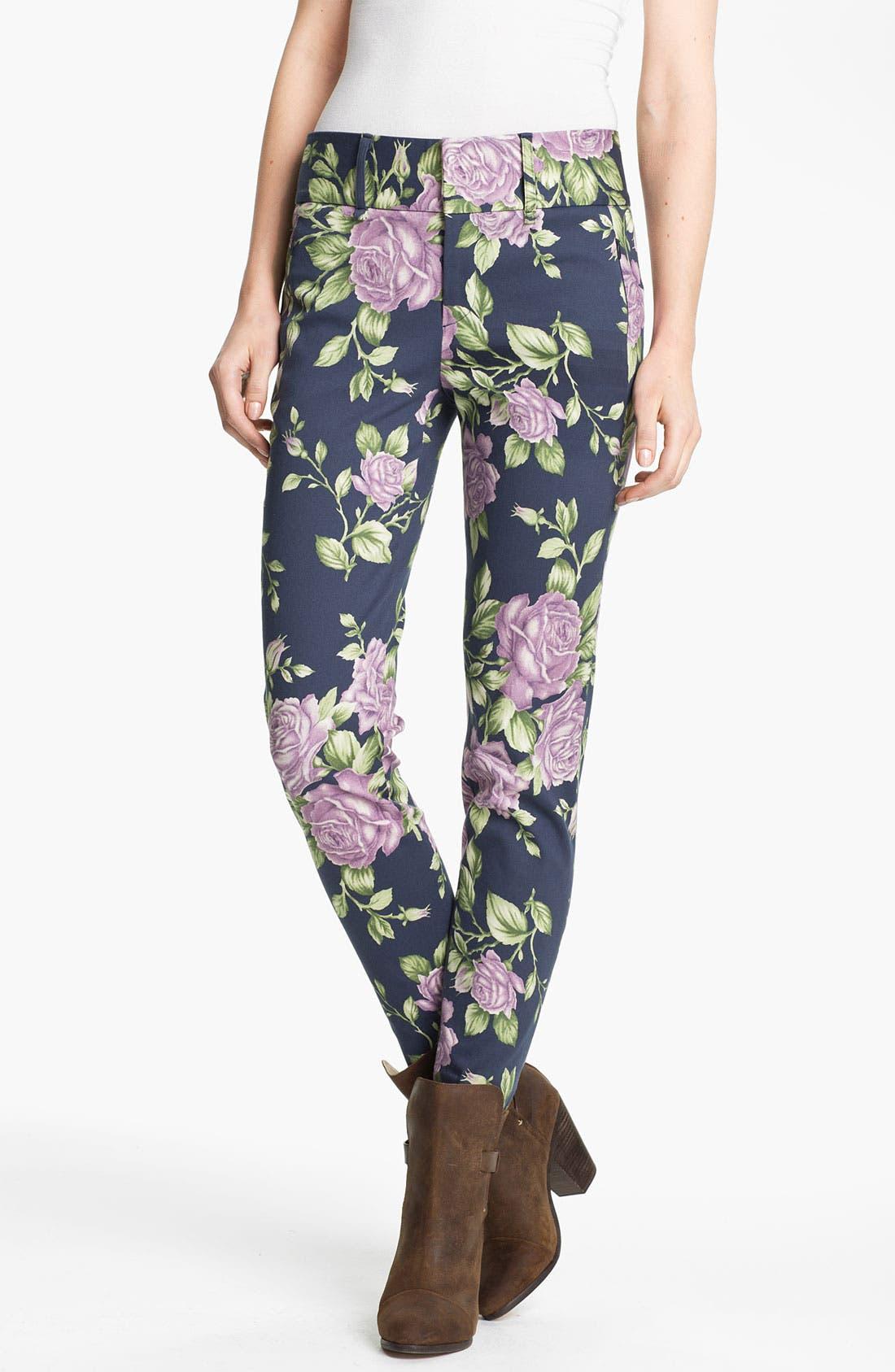 Main Image - rag & bone 'Malin' Floral Print Skinny Stretch Pants