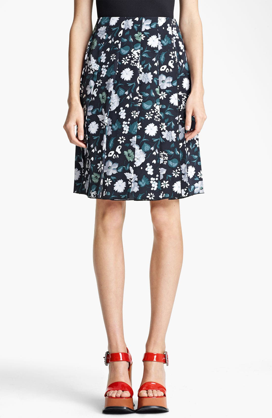 Main Image - MARC JACOBS Print Crêpe de Chine Skirt