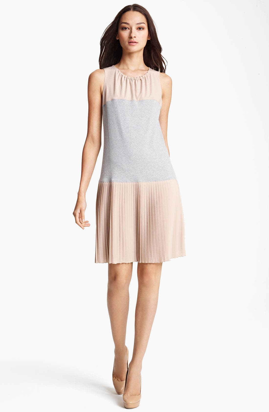 Main Image - Fabiana Filippi Crepe & Rib Knit Dress