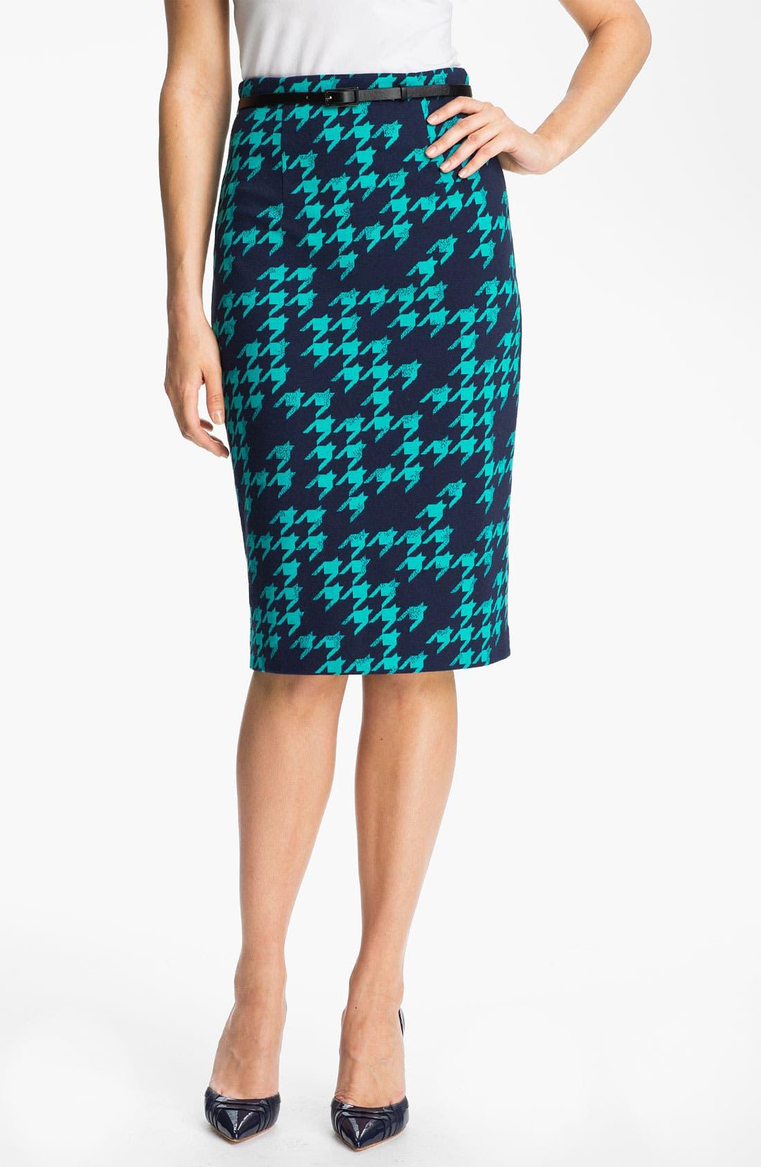 Alternate Image 1 Selected - Halogen® Belted Ponte Skirt